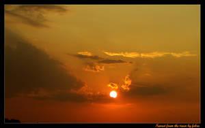 Sunset from the train by febra-febra