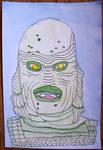 Illustration Friday 11/1/13--Creature by vincebayless