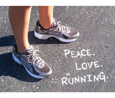 Peace, Love, and Running by FuzzyYellowDuckling