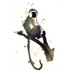 InkAnimals - Monkey by Duffzilla