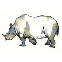 InkAnimals - Rhino by Duffzilla