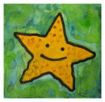 Little Paintings - starfish by Duffzilla