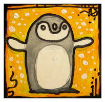Little Paintings - penguin by Duffzilla