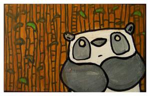 Little Paintings - panda by Duffzilla