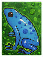 Little Paintings - frog by Duffzilla