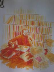 Portrait of Edmond Duranty by lidianne