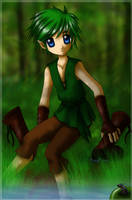 Young Forest Elf Boy by KrazyPerson