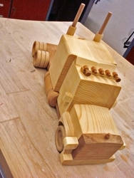 wood toy truck by pako214