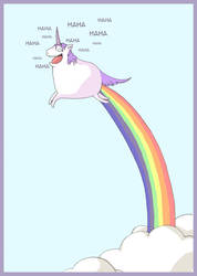 Happy unicorn by kangel