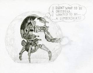Disatisfied Droideka by StoicLewy
