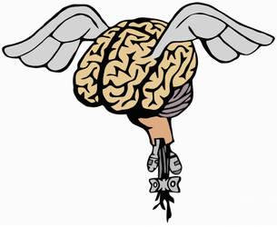 Flying Cyber-Brain by StoicLewy