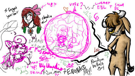 Epic Aggie Collab Doodle BC and EBL by BigClaudia