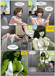 She-Hulk vs The Abomination 5 by Salandraca