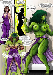 She-Hulk's dress by Salandraca