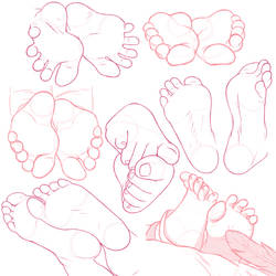 feet studies photo collage by ChaztheWeasel