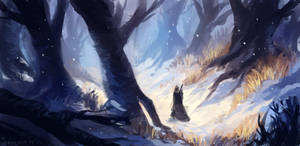 Snowroad by neylica