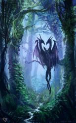 Valentine dragons by neylica