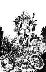 ART FOR SALE  -  RED SONJA by Raapack