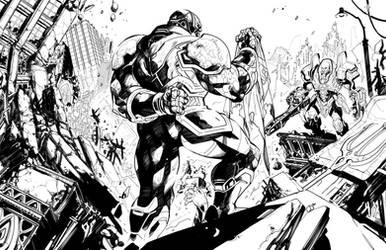 Darkseid vs LexLuthor by Raapack