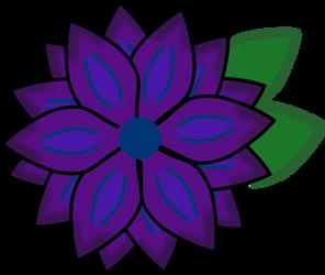 Purple Flower w/ leaves by SnowyAshCat