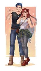 Blake and Riela (Modern Fashions) by Krounus