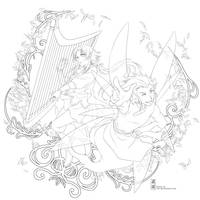 Lineart : Song of Wind by Zue