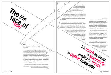 'typografische' 2-page spread by spukee