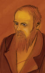 Wacom practice no.3-Dostoevsky by spukee