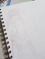 WonderWoman Sketch by And0Ilustrand0