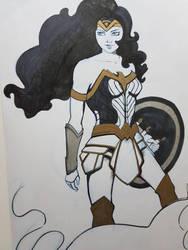 Wonder Woman inked illustrstion by And0Ilustrand0