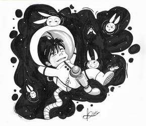 InkTober Day 2 - Tranquil by And0Ilustrand0