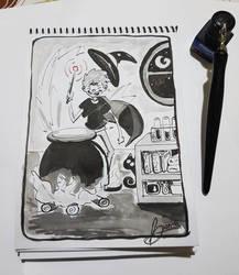 InkTober Day - 4 Spell V1 by And0Ilustrand0