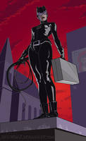 CATWOMAN_Roof Full by DRAWBAK