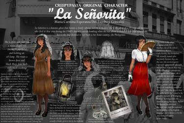 La Senyorita (Character Info/Reference Sheet) by mango-hana