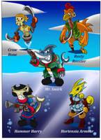 Cy-Pirate minions by gizmo01