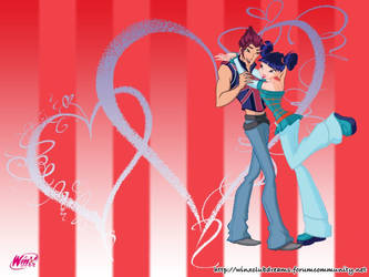 Winx Club Musa and Riven Background 01 by Lady-Angelia-13