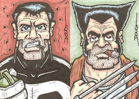 SC - Punisher and Wolverine by DougDraw