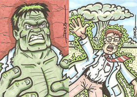 SC - Bruce Banner and the Hulk by DougDraw