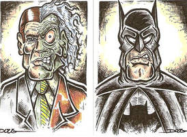 SC- Batman and Two-Face by DougDraw