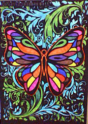 Velvet Art Butterfly by LaVetteMarie