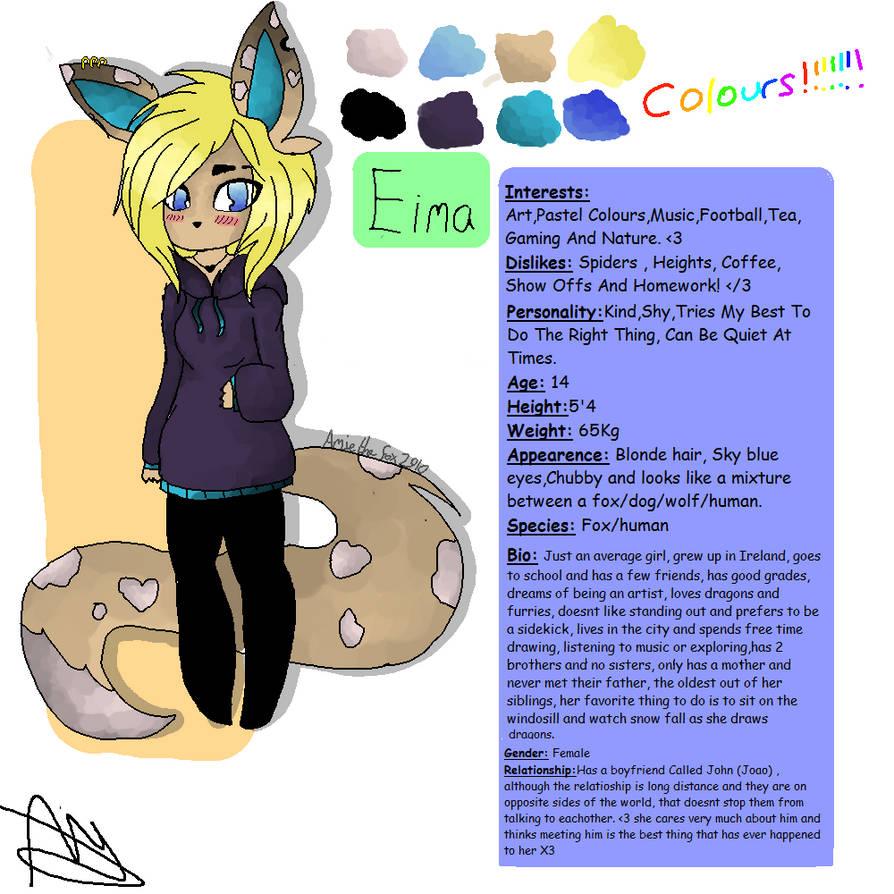 My First Oc ^^ (Eima) by AmieTheFox2910