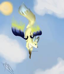 Flying Fox :3 by AmieTheFox2910