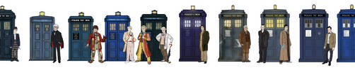 The Doctors and their TARDIS' by Ismar33