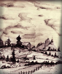 Landscape from a Dying Pen by LAN-V