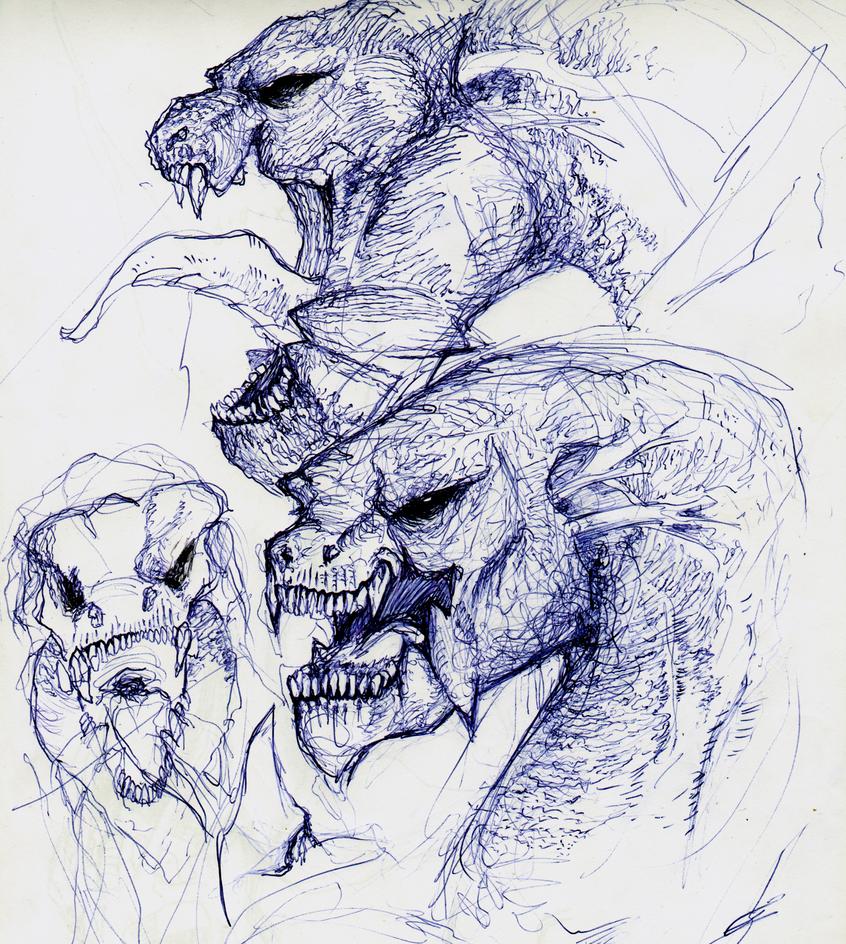 [Practice] Dragon Heads by LAN-V