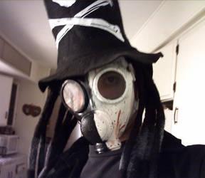 hat and mask by XxGasMaskPhantomXx
