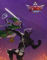 Link vs Ghirahim by envidia14