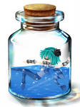 Panda in a bottle by MichelleKoilover