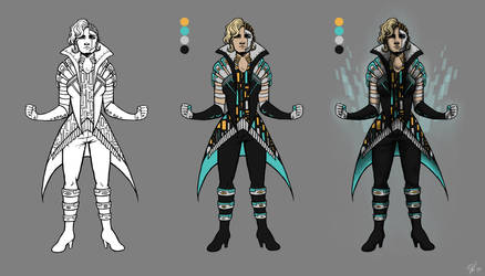 Character Concept: Cyborg Lady by iPancakes