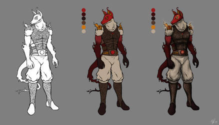 Character Concept: Red Sun by iPancakes